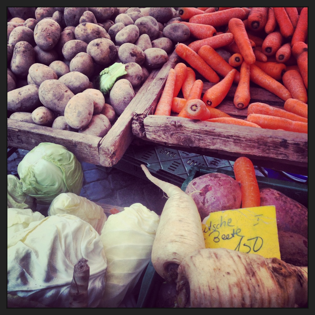 Local root vegetables