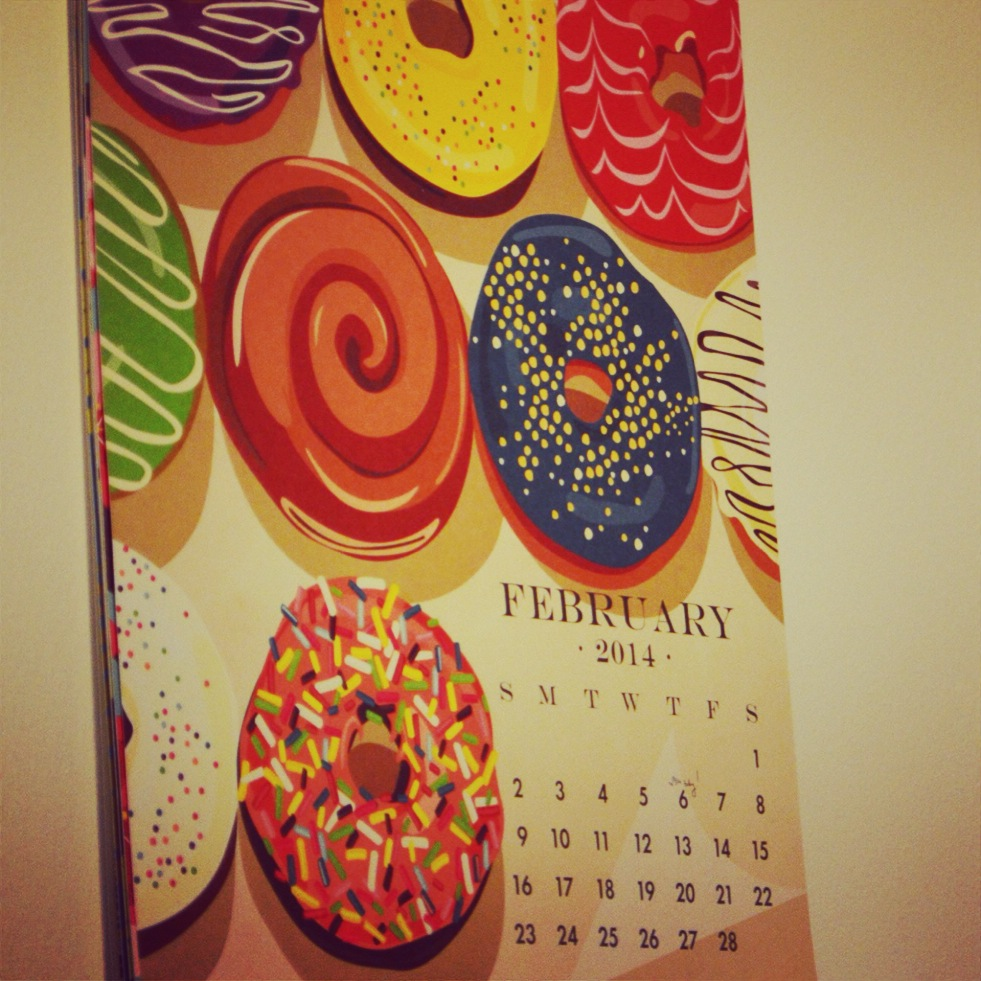 This calendar makes me hungry.