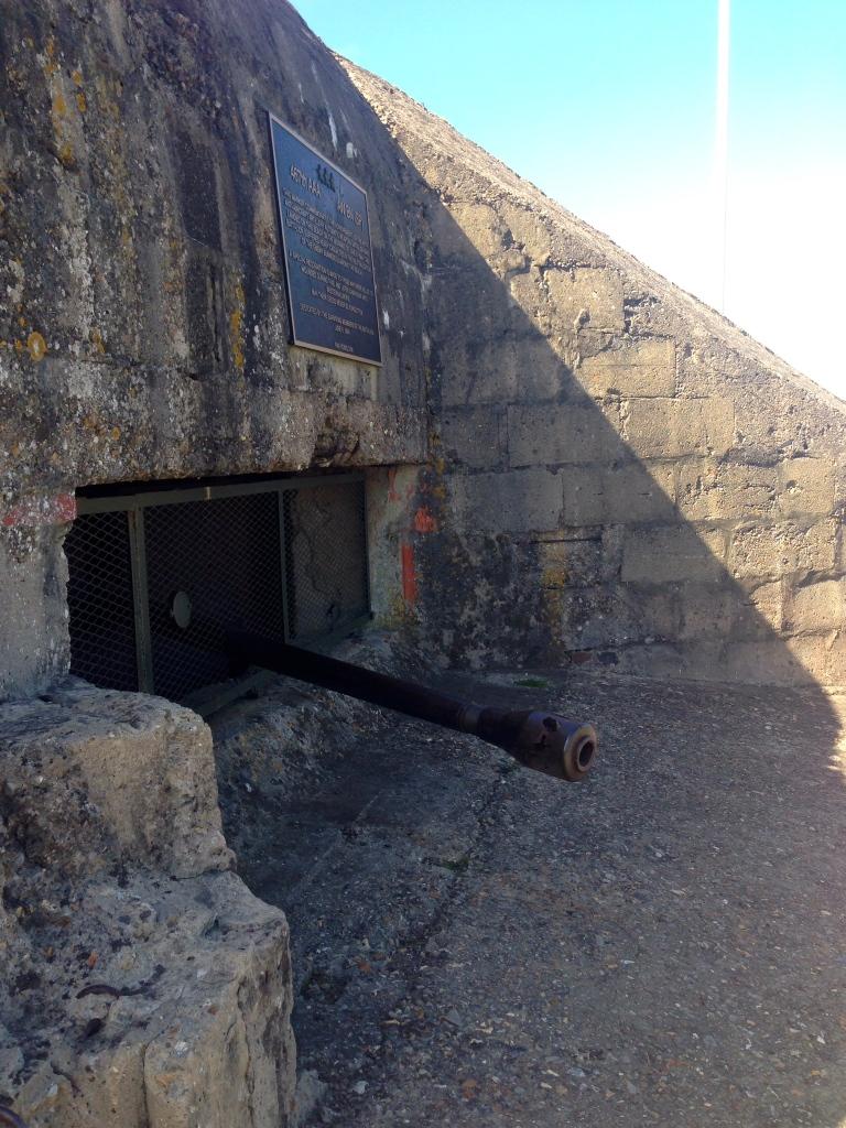 A battery remaining on Omaha Beach
