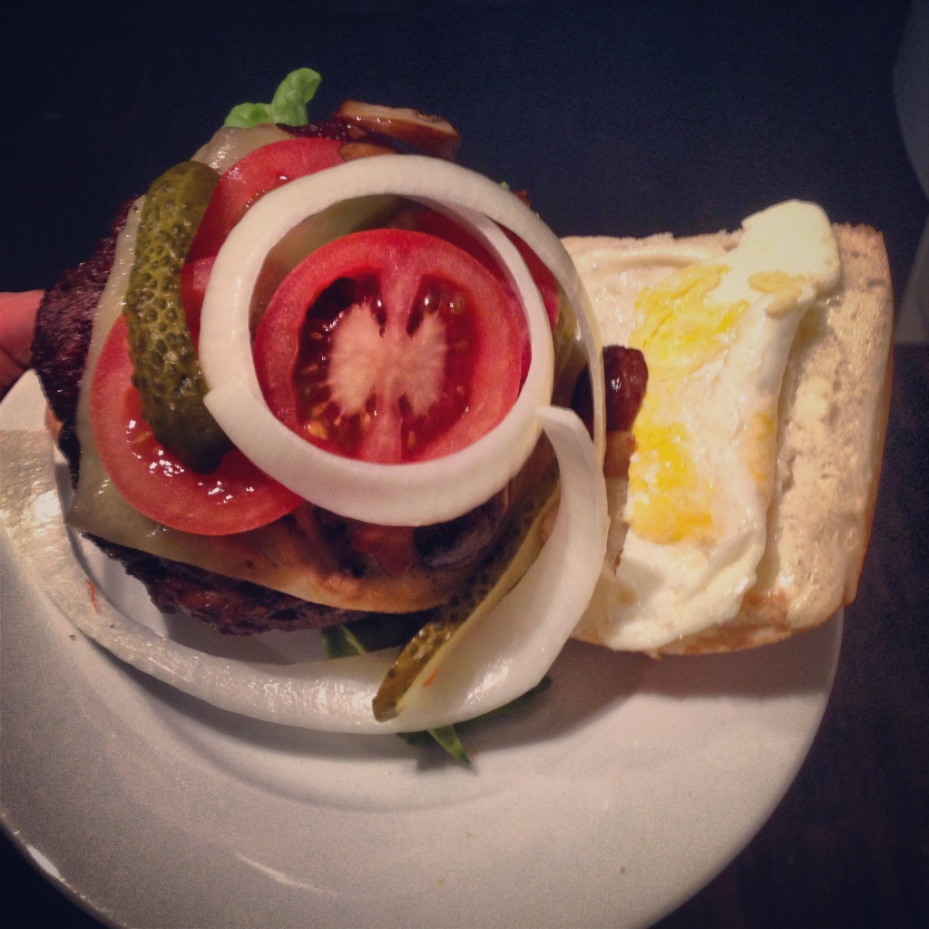"""""""When people pile seven things onto a burger, it drives me nuts!"""" - Bobby Flay.  Who asked you, Bobby?"""