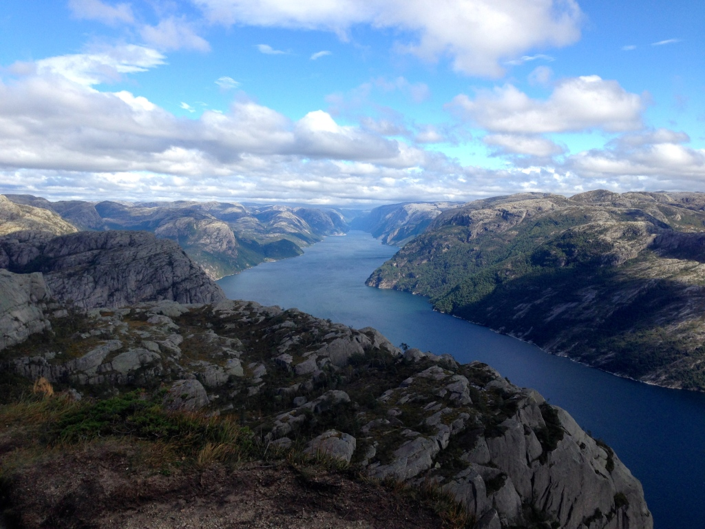 Lysefjord (the view from Pulpit Rock), Norway